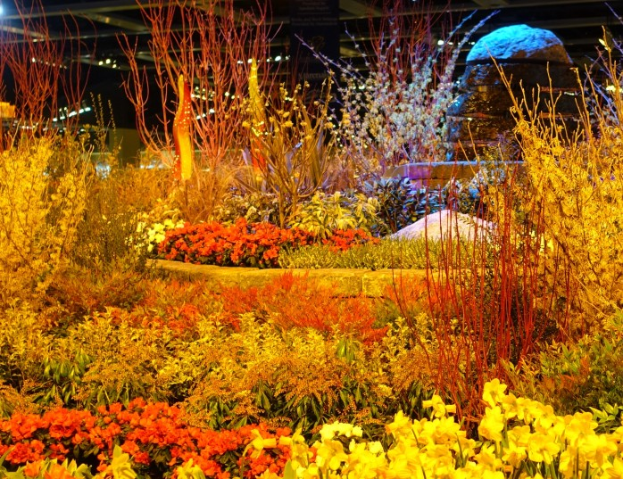 i did that yesterday and filled my senses with the brilliant reds and yellows in my favorite display gardens - Northwest Flower And Garden Show